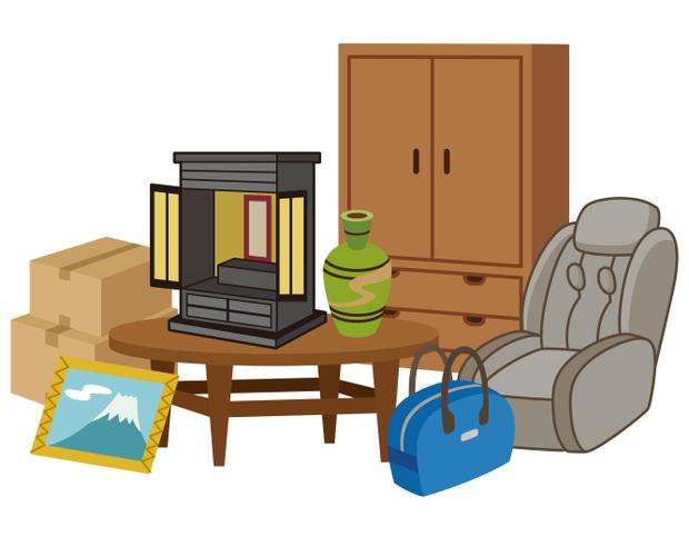 仏壇、タンス、壺